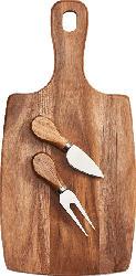 ZELLER 25597 Käseschneidebrett inkl. Käsegabel und Spatenmesser