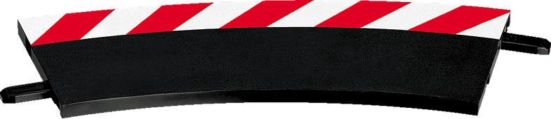 CARRERA (TOYS) Außenrandstreifen für Kurve 1/30° (6), Endstücke (2) Carrera Zubehör, Mehrfarbig
