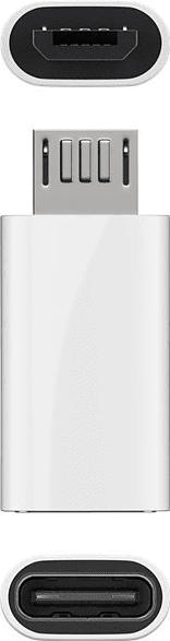 GOOBAY USB 2.0 Micro-B auf USB-C™ Adapter, Silber