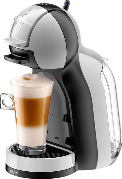 KRUPS KP123B Nescafe Dolce Gusto Mini Me Kapselmaschine, Arctic Grey/Schwarz