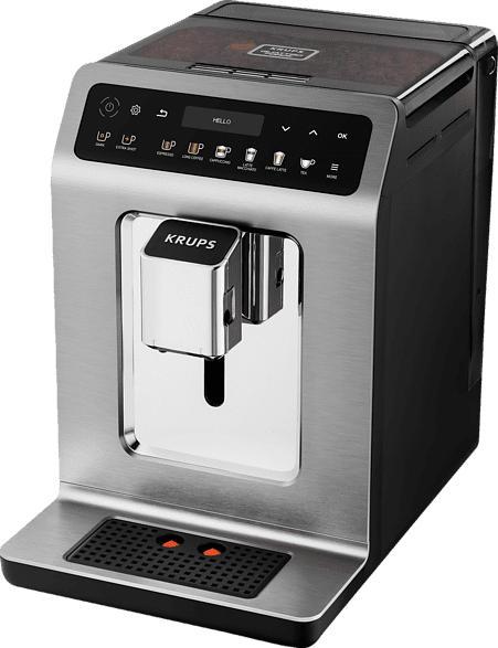 KRUPS EA894T Evidence Plus One-Touch-Cappuccino Kaffeevollautomat Titanium Metallic