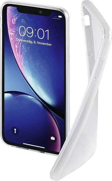 HAMA Crystal Clear , Backcover, Apple, iPhone XR, Thermoplastisches Polyurethan, Transparent
