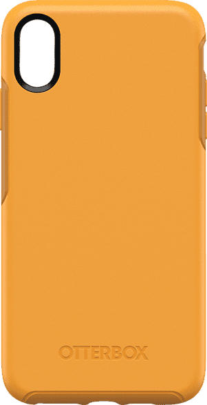 OTTERBOX Symmetry , Backcover, Apple, iPhone XS Max, Polycarbonat, Silikon, Gelb