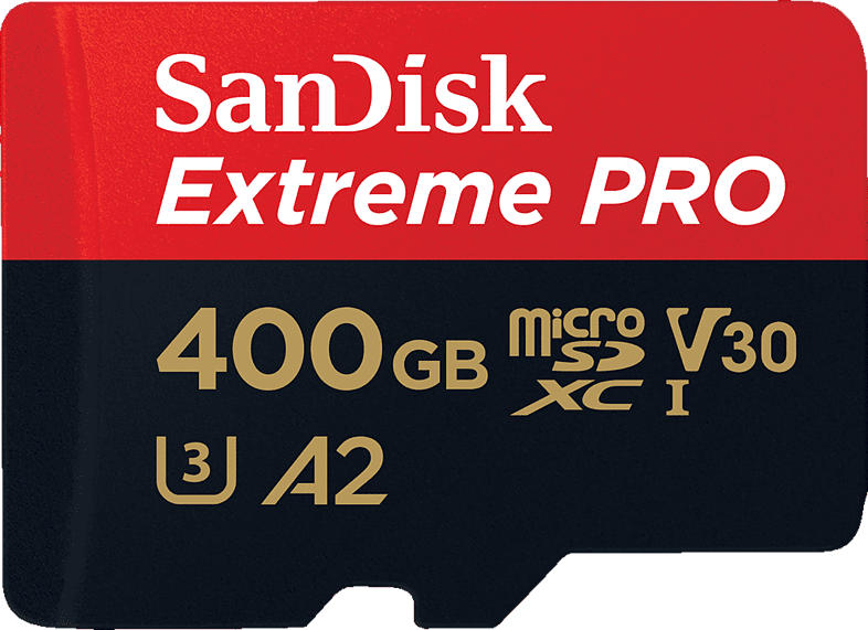 SANDISK Extreme® PRO, Micro-SDXC Speicherkarte, 400 GB, 170 Mbit/s