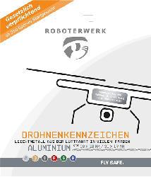 ROBOTERWERK Drohnenkennzeichen aus Aluminium-Gutschein Plakette, Kennzeichen
