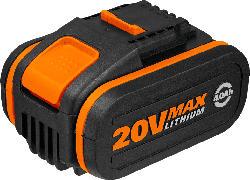 WORX WA3553 Akku 20V / 4000mAh Akku, Orange/Schwarz
