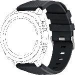MediaMarkt TOPP 40-37-7596, Ersatz-/Wechselarmband, Samsung, Garmin, Gear Sport, Galaxy Watch 42 mm, Samsung Galaxy Active, vivomove, vivoactive3, Schwarz