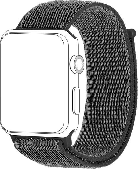 TOPP 40-37-2691, Ersatz-und Wechselarmband, Apple, Watch 38/40, Dunkelgrau