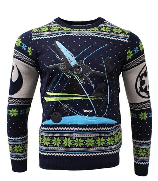 NUMSKULL Star Wars X-Wing: Battle of Yavin Xmas Pullover XXL Strickpullover, Mehrfarbig
