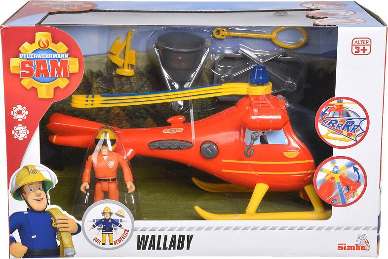 SIMBA TOYS Sam Hubschrauber mit Figur Spielzeughubschrauber, Mehrfarbig