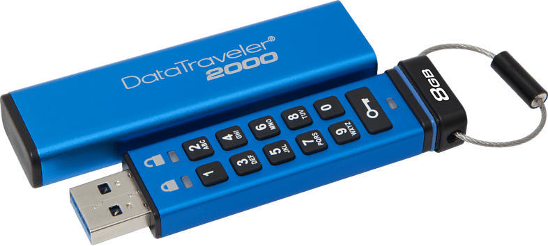 KINGSTON DataTraveler 2000 USB-Stick, Metallic-blau, 8 GB