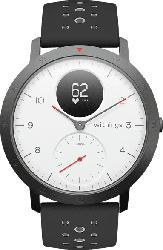 WITHINGS  Steel HR Sport Hybrid Smartwatch, Silikon, 230 mm, Weiß/Schwarz