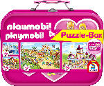 Media Markt SCHMIDT SPIELE (UE) Puzzle-Box Playmobil im Metallkoffer Puzzle, Mehrfarbig