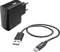 HAMA Micro-USB Ladegerät, Schwarz
