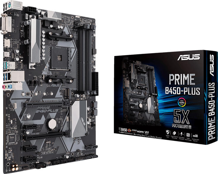 ASUS Prime B450-Plus Mainboard Schwarz