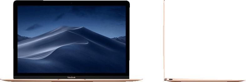 APPLE MacBook MRQN2D/A-141986 mit internationaler Tastatur, Notebook mit 12 Zoll Display, Core m3 Prozessor, 16 GB RAM, 256 GB SSD, Intel® HD-Grafik 615, Gold