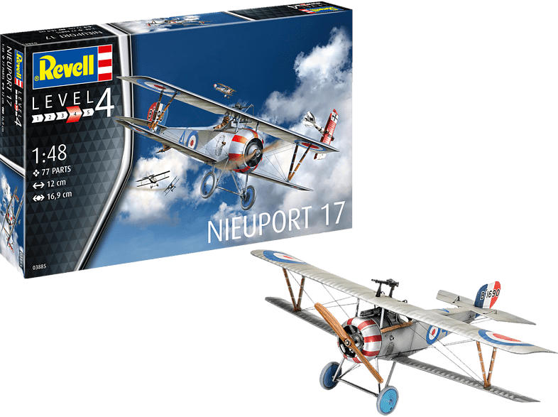 REVELL Nieuport 17 Bausatz, Mehrfarbig