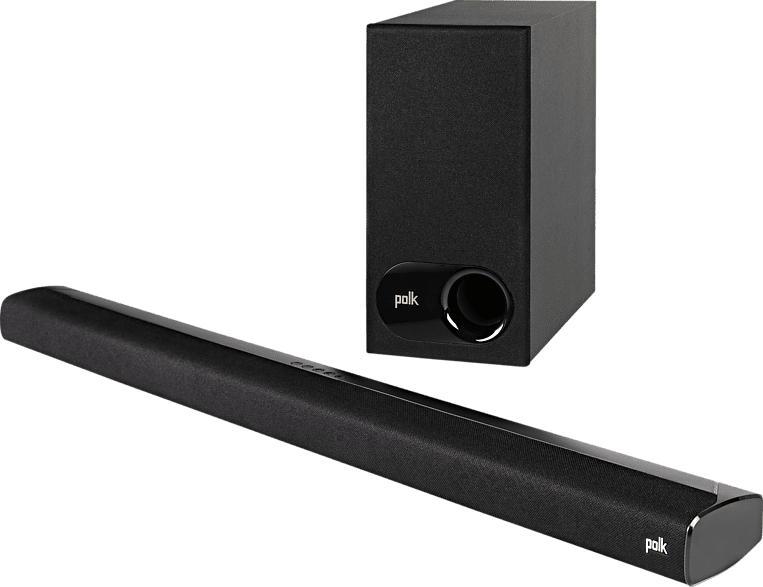 POLK AUDIO Signa S2 Soundbar  (2x  (32 x 112 mm) ovale Breitbandtreiber, 2x 25 mm Hochtöner, Schwarz)