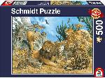 MediaMarkt SCHMIDT SPIELE (UE) Puzzle Grosskatzen 500 Teile Puzzle, Mehrfarbig
