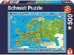 MediaMarkt SCHMIDT SPIELE (UE) Puzzle Europa Entdecken 500 Teile Puzzle, Mehrfarbig
