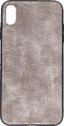 AGM 27603 , Backcover, Apple, iPhone XS Max, Silikon/Stoff, Grau