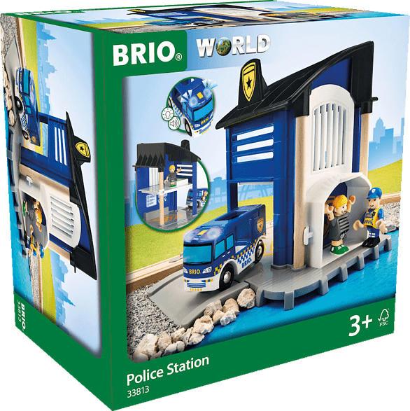 BRIO Polizeistation mit Einsatzfahrzeug Spielset, Mehrfarbig