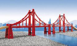 BRIO Hängebrücke Zubehör für Eisenbahn, Mehrfarbig