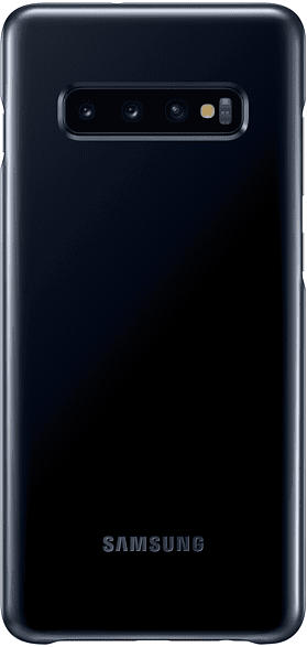 SAMSUNG LED Cover , Backcover, Samsung, Galaxy S10+, Kunststoff, Schwarz