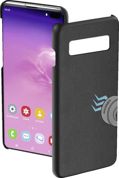 HAMA Magnet , Backcover, Samsung, Galaxy S10+, Kunstleder, Schwarz