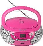 Media Markt BLAUPUNKT B-4-PLL-PK CD-Player CD-Player Pink/Silber