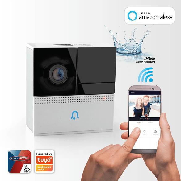 CALIBER Smart Video Doorbell Videotürklingel, Weiß