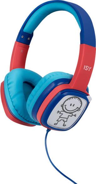 ISY IHP-1001-BL, On-ear Kopfhörer  Blau