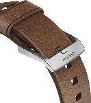 MediaMarkt NOMAD Strap Modern Leather Connector Silver 42mm, Ersatzarmband, Apple, Apple Watch Sport, Apple Watch und Apple Watch Edition, Serien 1, 2, 3 und 4, Braun/Silber