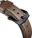MediaMarkt NOMAD Strap Traditional Leather Connector Black 42 mm, Ersatzarmband, Apple, Apple Watch Sport, Apple Watch und Apple Watch Edition kompatibel, Serien 1, 2, 3 und 4, Braun/Schwarz