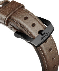 NOMAD Strap Traditional Leather Connector Black 42 mm, Ersatzarmband, Apple, Apple Watch Sport, Apple Watch und Apple Watch Edition kompatibel, Serien 1, 2, 3 und 4, Braun/Schwarz
