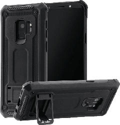HAMA Army , Backcover, Samsung, Galaxy S9, Polycarbonat, Thermoplastisches Polyurethan , Schwarz