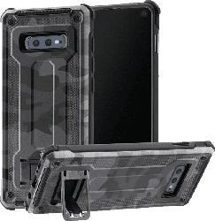 HAMA Army , Backcover, Samsung, Galaxy S10e, Polycarbonat, Thermoplastisches Polyurethan, Grau/Schwarz/Camouflage