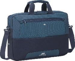 RIVACASE Steel Notebooktasche, Aktentasche, Stahl Blau/Aquamarin