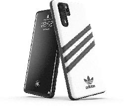 ADIDAS Moulded Case , Backcover, Huawei, P Smart + (2019), Polycarbonat, Weiß/Schwarz