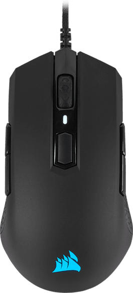 CORSAIR M55 PRO RGB Gaming Maus, Schwarz/Leuchtfarbe: Mehrfarbig
