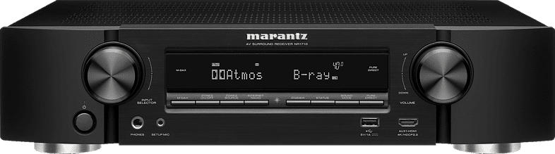 MARANTZ NR 1710 AV-Receiver (7.2 Kanäle, Schwarz)