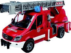 BRUDER MB Sprinter Feuerwehr m. Drehl.,Pumpe Spielzeugfahrzeug, Mehrfarbig