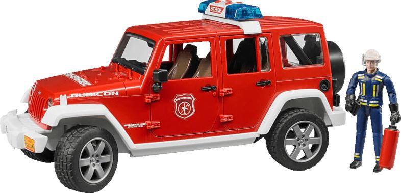 BRUDER Jeep Wrangler Unlimited Rub. Feuerwehr Spielzeugfahrzeug, Mehrfarbig