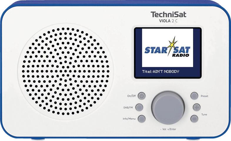 TECHNISAT Viola 2 C Radio (Weiß/Blau)