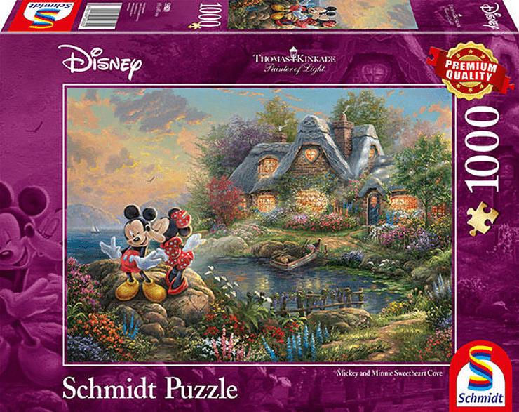 SCHMIDT SPIELE (UE) Puzzle Disney Sweethearts Mickey &Minnie 1.000 Teile  Puzzle, Mehrfarbig