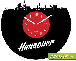 GRAVINCI Hannover-Deutsche Skylines Vinyl Schallplattenuhr, Mehrfarbig
