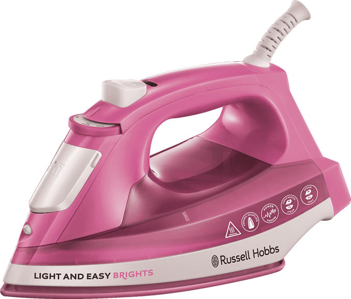 RUSSELL HOBBS 25760-56 Light & Easy Brights Dampfbügeleisen (2400 Watt, Antihaftversiegelte Keramik-Bügelsohle)