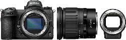 NIKON Z6 Kit FTZ  Adapter Systemkamera 24.5 Megapixel mit Objektiv 24-70 mm , 8 cm Display   Touchscreen