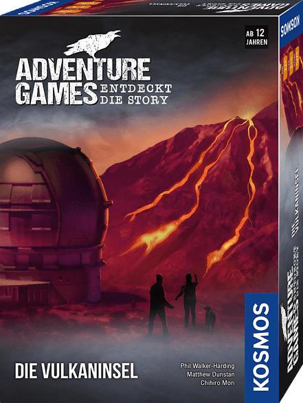KOSMOS Adventure Games - Die Vulkaninsel Gesellschaftsspiel, Mehrfarbig