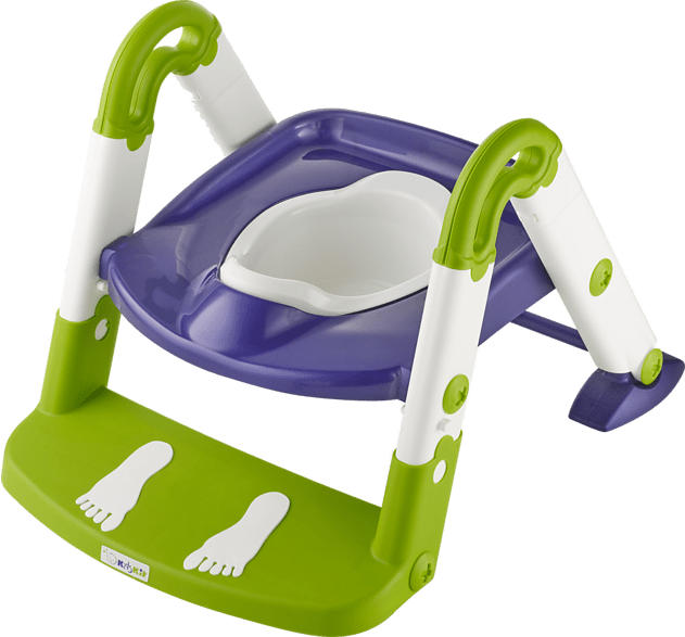 ROTHO Toilettentrainer 3 in 1 Babypflege Perl Blue/Weiß/Translucent Lime